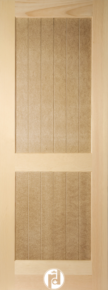 V-Grooved Doors with Raised, Flat Panels & Shaker