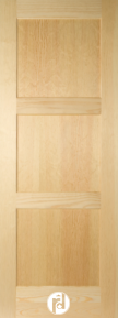 Series 600 Doors with Flat Panels and Quarter Round Moulding Profile